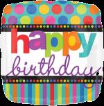 Birthday Spots and Stripes