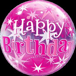 Pink Birthday Bubble