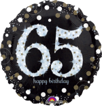 Glimmer Confetti 65th Birthday