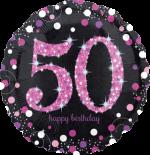 Pink Glimmer Confetti 50th Birthday