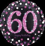 Pink Glimmer Confetti 60th Birthday