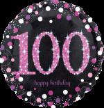 Pink Glimmer Confetti 100th Birthday