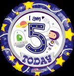 Space Boy 5th Birthday Boy