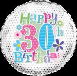 30th Birthday Silver Flowers