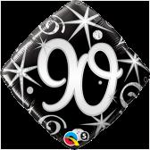 90th Black and Silver Diamond
