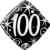 100th Black and Silver Diamond