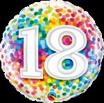 18th Rainbow Confetti