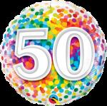 50th Rainbow Confetti