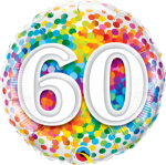 60th Rainbow Confetti