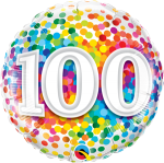 100th Rainbow Confetti