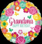 Birthday Grandma Floral