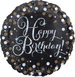 Gold and Silver Sparkle Birthday