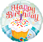 Happy Birthday Cupcake with Candle