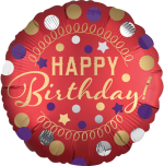 Happy Birthday Red Satin