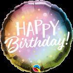 Birthday Metallic Ombre Dots