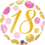 18 Pink and Gold Dots