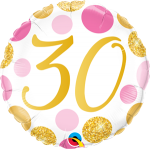 30 Pink and Gold Dots
