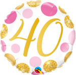 40 Pink and Gold Dots
