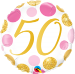 50 Pink and Gold Dots