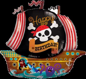 Happy Birthday Pirate Ship