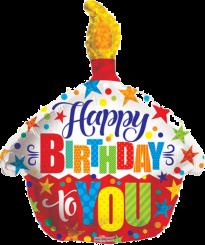 Happy Birthday To You Cupcake