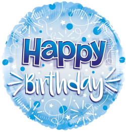 Jumbo Blue Streamers Birthday