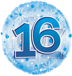 Jumbo Blue Streamers 16th Birthday