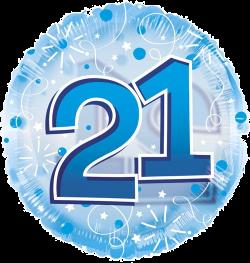 Jumbo Blue Streamers 21st Birthday