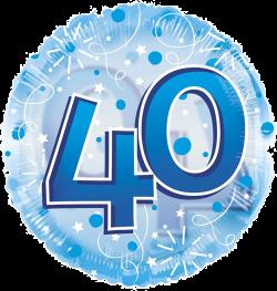 Jumbo Blue Streamers 40th Birthday