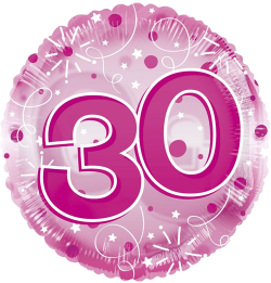 Jumbo Pink Streamers 30th Birthday
