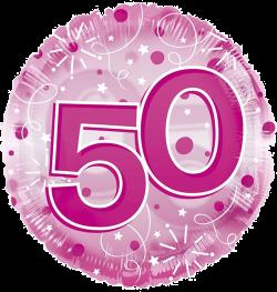Jumbo Pink Streamers 50th Birthday