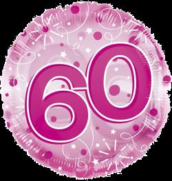 Jumbo Pink Streamers 60th Birthday