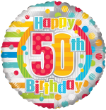 Colourful 50th Birthday