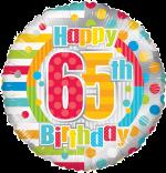 Colourful 65th Birthday