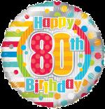 Colourful 80th Birthday