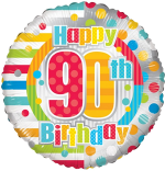 Colourful 90th Birthday