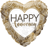 Anniversary Gold Heart