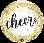 Cheers Gold Glitter