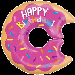 Happy Birthday Iced Donut